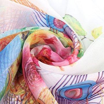 PB-SOAR XXL Damen Sarong Pareo Strandtuch Wickelrock Wickeltuch Schal Halstuch Multifunktion, weich und leicht (Weiß) - 6