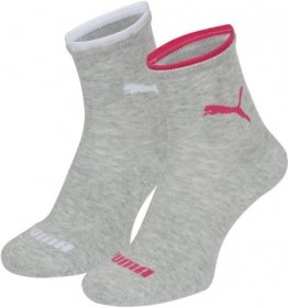 PUMA Damen Socke Lifestyle Short 2P, 035_light grey melange, 39-42, 203201001035039 - 1