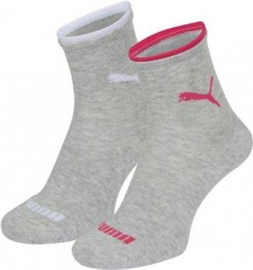 PUMA Damen Socke Lifestyle Short 2P, 035_light grey melange, 39-42, 203201001035039 - 1