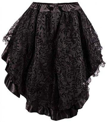 r-Dessous Damen Rock schwarz Burleske Victorian Gothic Steampunk Skirt Corsage Chiffon Übergrößen Vintage Groesse: 6XL/ 8XL - 3