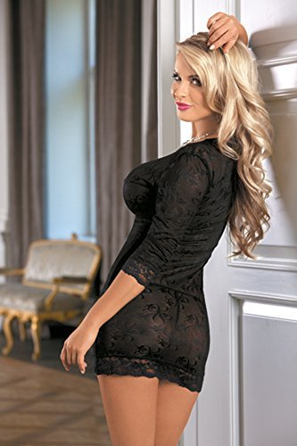 R-Dessous Mini Kleid Clubwear Dress Club Party Minikleid schwarz transparent erotische Dessous Groesse: XXL/XXXL - 3