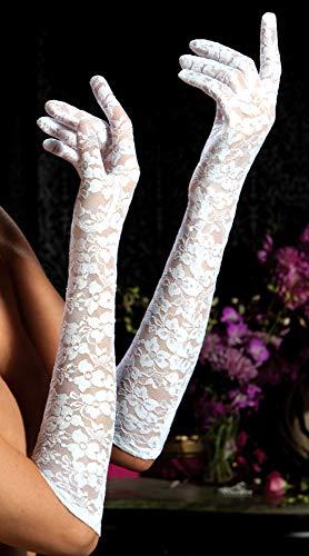 R-Dessous romantische Handschuhe Weiss Hochzeit Groesse: S/M/L/XL - 4