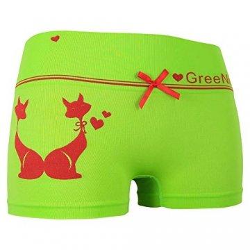 ReKoe 10er Pack Damen Hotpants Microfaser Unterwäsche Katze Panty Hipster Short, Größe:S-M = 36/38 - 2