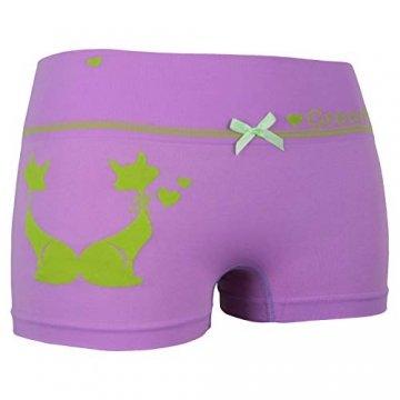 ReKoe 10er Pack Damen Hotpants Microfaser Unterwäsche Katze Panty Hipster Short, Größe:S-M = 36/38 - 3