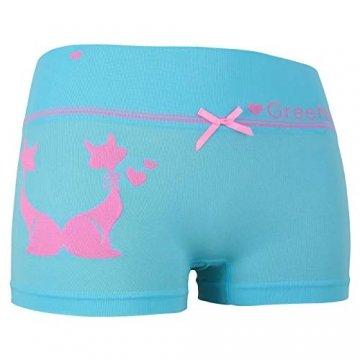 ReKoe 10er Pack Damen Hotpants Microfaser Unterwäsche Katze Panty Hipster Short, Größe:S-M = 36/38 - 4