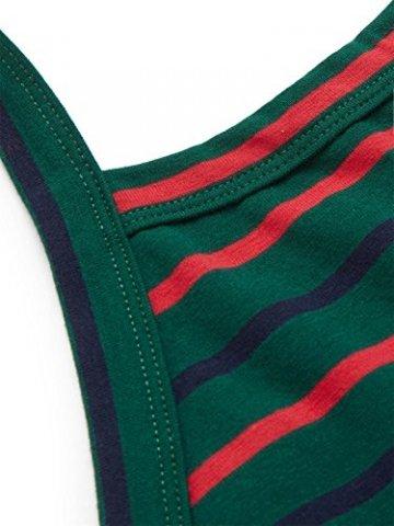 ROMWE Damen Tie Dye Neckholder TrägerCrop Top Sommer Schulterfrei Bauchfrei Crop Top Muster1 M - 3