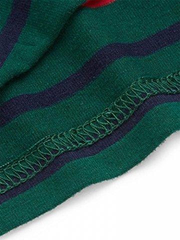 ROMWE Damen Tie Dye Neckholder TrägerCrop Top Sommer Schulterfrei Bauchfrei Crop Top Muster1 M - 4