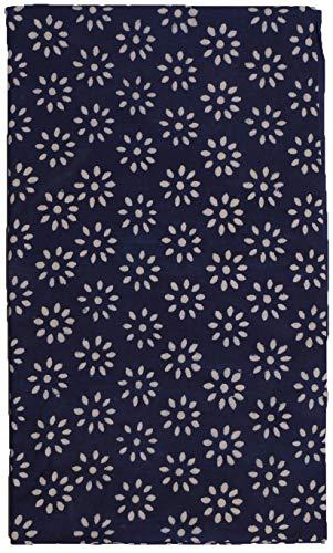 Sarong Rock aus Indien, traditionell handbedruckt, Unisex für Männer und Frauen, Blau 2 - 4