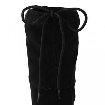 SCARPE VITA Damen Stiefel Overknees Langschaft Boots Blockabsatz High Heels165435 Schwarz 38 - 4