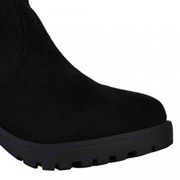 SCARPE VITA Damen Stiefel Overknees Langschaft Boots Blockabsatz High Heels165435 Schwarz 38 - 5