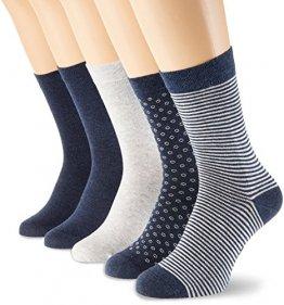 Schiesser Damen Damensocken (5PACK) Socken, Mehrfarbig (Sortiert 1 901), 39/42 (Herstellergröße: 403) (5erPack) - 1
