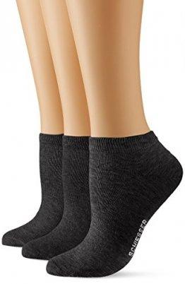 Schiesser Damen Sneaker (3PACK) Socken, (Schwarz 000), 35/38 (Herstellergröße: 400) (3erPack) - 1