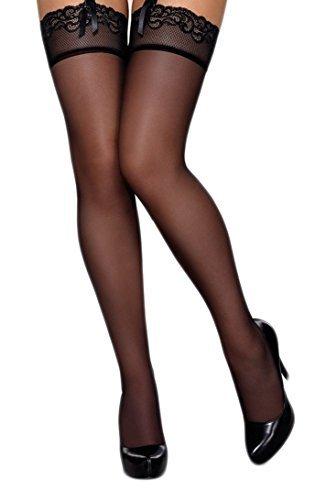 Selente Lovely Legs verführerische Damen Straps-Strümpfe mit Edler Spitze, Made in EU, schwarz-3, Gr. S/M - 2