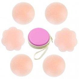 Silikon Nipple Cover Lift Unsichtbare Brust Blütenblätter Adhesive BH Wiederverwendbare Nippel-Abdeckungen für Frauen - 1