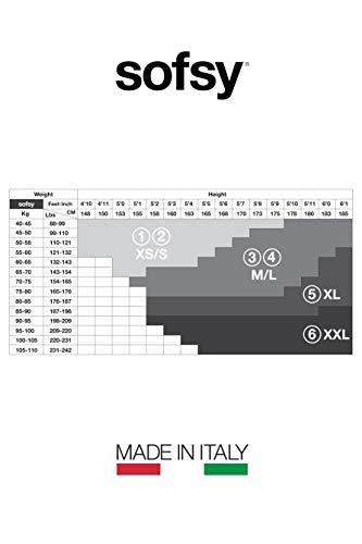 sofsy Netzstrümpfe - Halterlos - Dessous aus Spitze [Made In Italy] Schwarz Black 5 - X-Large - 7