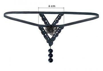 Sohimary 433 Micro Mini String Tanga Made in Deutschland, schwarz 433, Einheitsgröße für: XS S M 32 34 36 38 - 4