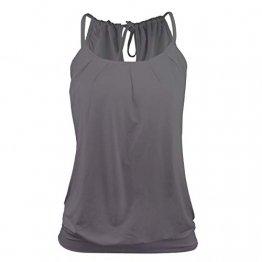 Stynice Top Damen Sommer Ärmellose T Shirt Oberteile Elegant Bluse Tank Top Losen - 1