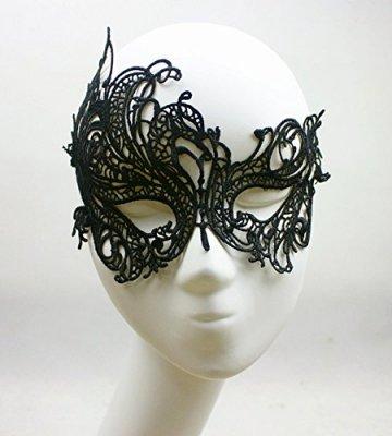 thematys Venezianische Maske #4 schwarz Damen Herren - perfekt für Fasching, Karneval & Maskenball - Kostüm für Erwachsene - Unisex Einheitsgröße - 6