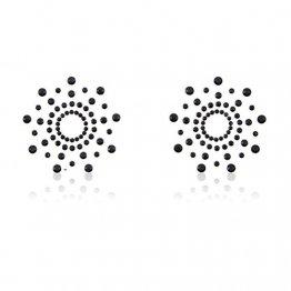 Tinksky Womens Nippel Cover Adhesive Pasties Brust Blütenblatt Pasty schwarz BH-Aufkleber wiederverwendbar - 1
