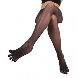 Toe Toe Toetoe-Mädchen-Nylon Fuß Strumpfhosen (One Size, Schwarz) - 1