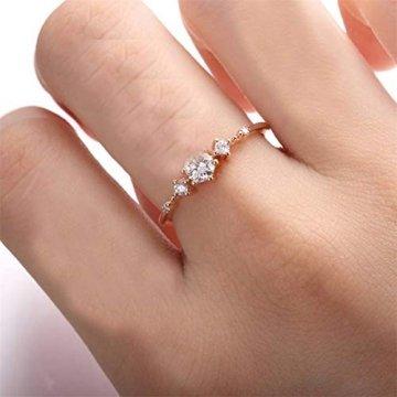 Toporchid Kristallschmuck Ringe Hochzeitsgeschenk Ringe Für Frauen Und Männer (Größe 10) - 2