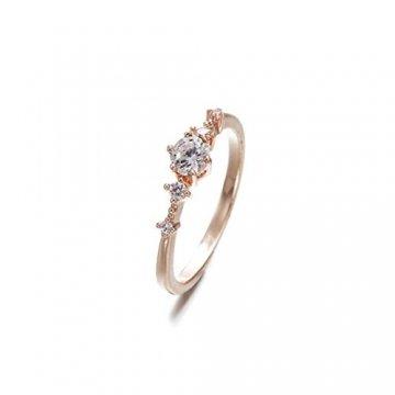 Toporchid Kristallschmuck Ringe Hochzeitsgeschenk Ringe Für Frauen Und Männer (Größe 10) - 3