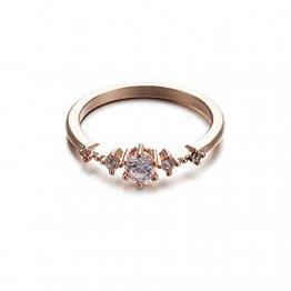 Toporchid Kristallschmuck Ringe Hochzeitsgeschenk Ringe Für Frauen Und Männer (Größe 10) - 1