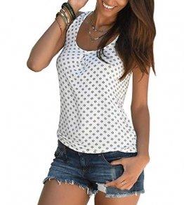 TrendiMax Damen Top Ärmellos Sommer Oberteil Tank Top mit Allover-Minimal Print Lässiges Baumwolle Shirt Basic Tee - 1