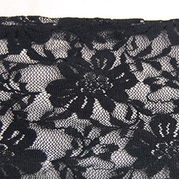 Trixes Kurze schwarze fingerlose Burlesque-Handschuhe mit Spitze im Dienstmädchen-Look - 4