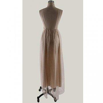 TUWEN Frauen Reizvolles Langes Elegantes Kleid Mit V-Ausschnitt Und Langem Abendkleid - 6