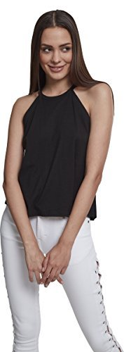 Urban Classics Damen Neckholder Tanktop Top, Schwarz (Black 00007), Medium - 3