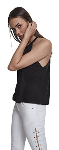 Urban Classics Damen Neckholder Tanktop Top, Schwarz (Black 00007), Medium - 4