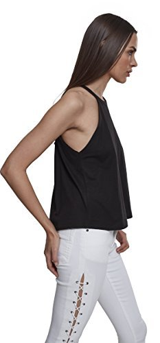 Urban Classics Damen Neckholder Tanktop Top, Schwarz (Black 00007), Medium - 7