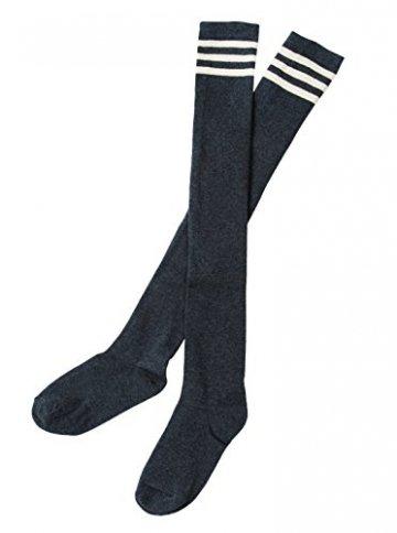 Urban GoCo Mädchen Overknee Überknie Kniestrümpfe Hold-up-Strümpfe Retro Schüler Knitting Sportsocken 3 Paare Mehrfarbig (A) - 7