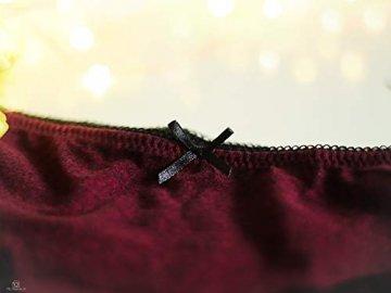 V FOR CITY Slips Damen Baumwoll Soft Panties mit Spitzendetails Unterhose mit Schleife 4er Pack, Grau5, M - 5