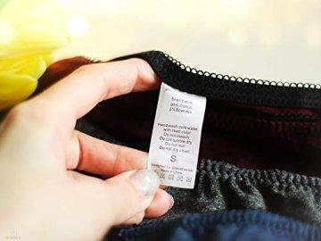 V FOR CITY Slips Damen Baumwoll Soft Panties mit Spitzendetails Unterhose mit Schleife 4er Pack, Grau5, M - 7