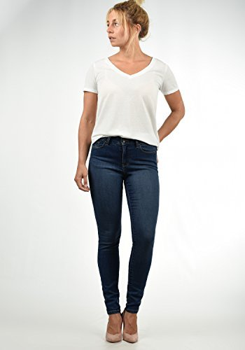VERO MODA Diamant Damen Jeans Denim Hose Strech Mid-Rise, Größe:M/ L30, Farbe:Dark Blue - 2