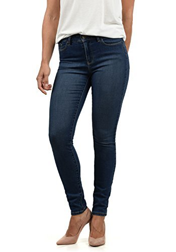 VERO MODA Diamant Damen Jeans Denim Hose Strech Mid-Rise, Größe:M/ L30, Farbe:Dark Blue - 1