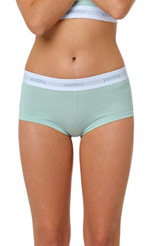 Yenita 3er Set Damen Underwear Modern-Sports-Collection, Panty, Gemischt (Pink/Mint/Grau), Gr. S - 5