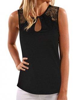 YOINS Top Damen Sommer Sexy Ärmellos Shirt Crop Tops Damen Mode Rundhals Bluse Mode Camisole Tank - 1