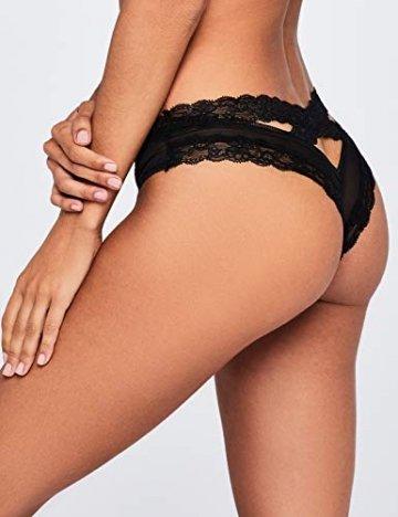 Amazon-Marke: Iris & Lilly Damen Hipster aus Netzstoff, 2er-Pack, Schwarz (Black), XL - 3