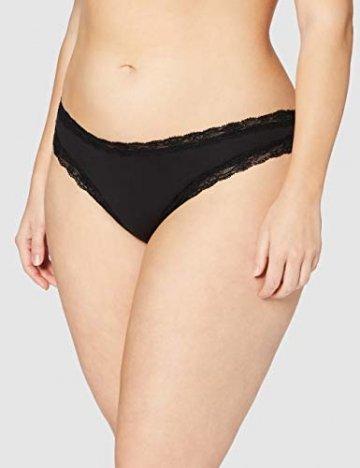 Amazon-Marke: Iris & Lilly Damen Tanga aus Baumwolle mit Spitze, 5er-Pack, Schwarz (Schwarz), XXL, Label: XXL - 2