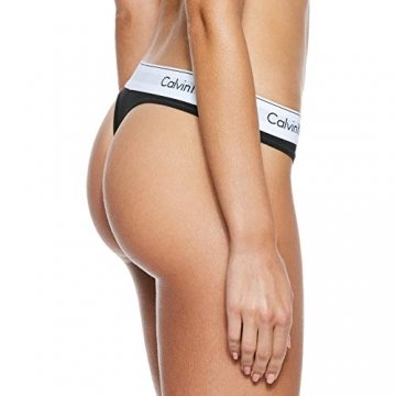 Calvin Klein Damen MODERN Cotton-Thong String, Schwarz (Black 001), XS - 2
