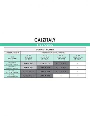 | SELBSTHALTENDE NETZSTRÜMPFE MIT BEINSAUM | SCHWARZ | S/M, L/XL | MADE IN ITALY | (L/XL, Schwarz) - 7