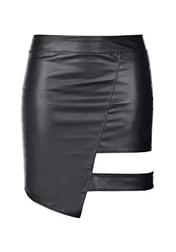 Axami Damen Minirock im Wetlook M463 XL - 1