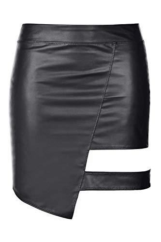Axami Damen Minirock im Wetlook M463 XL - 6