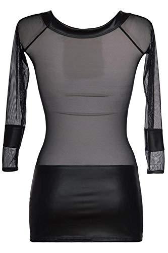 Axami Damen Tüll-Minikleid mit Latex S - 7