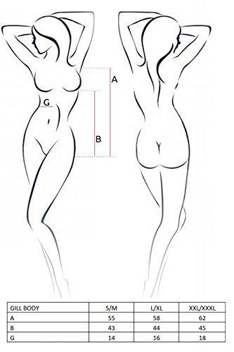 CASMIR Damen Ropa Interior Erótica De Cuero Y Látex Para Mujer Sexo Y Sensualidad Adulto Unisex Shapewear Ganzkörper-Body, Multicolor, S/M - 3