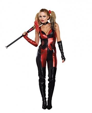 Dreamgirl Womens Harlequin Blaster Fancy dress costume Medium by Dreamgirl - 1