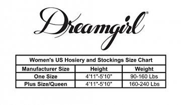Dreamgirl Women's Verona Hosiery Garter with Attached Thigh Highs, Black, One Size - 8